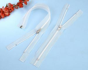 Polyester Zips with Transparent Tape TSF-110